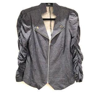 Jackets & Blazers - Faux denim jacket